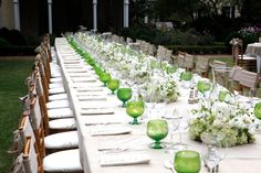 green. long table... another Sean OKeefe Event