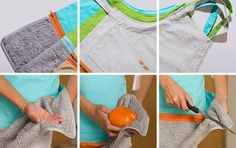 We love this apron idea from the US-based company Just Perfect, which adds a zip-off towel along the bottom of a regular apron bib. What do you think?
