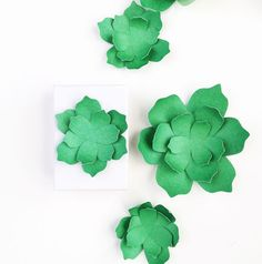 Flora and Fauna: Paper Succulents made with my Silhouette by Maritza Lisa