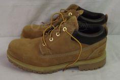 shopgoodwill.com - #30945404 - Timberland Tan Leather Waterproof Boots, Sz 9 - 6/30/2016 8:48:00 PM