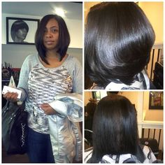 Don't know if she is a natural but when I get this length want this hair cut