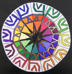 Art Teacher Creature Complex Color Wheel Kids Pinterest