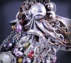Octopus Jewelry Steampunk Octopus Bracelet Beach by DesignsBloom