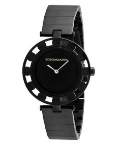 BCBGMAXAZRIA Women's BG8240 Vintage Black Dial Watch BCBGMAXAZRIA. $89.00. 2-hand Japanese-Quartz movement. Water-resistant to 165 feet (50 M). Solid stainless steel case and caseback. Limited lifetime warranty. High grade genuine leather strap