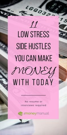 Check out these 11 high paying side hustles you can start today #sidehustle