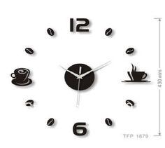 Time DIY Wall Stickers Clocks Wall Coffee Kitchen Restaurant Clock | eBay