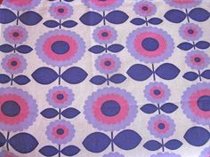 Funky 1970s Purple MOD Flower With Stem  Unused by Pommedejour, $40.00
