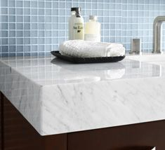 the latest trend in bathroom vanities is extra thick counter tops a rh pinterest com