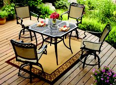 Gotta love not having to worry about cushions. Paxton Place High Dining Set = perfect patio perch