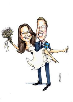 All About Kate Middleton's: Caricature collection of Kate and William.