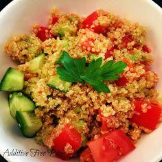 Additive Free Bites: Spicy Quinoa Salad