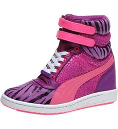 Sky Wedge Reptile Women's Sneakers: Listen up fellas: the battle has just begun. B-girl numbers are on the rise, breaking molds and beats from Tokyo to NYC. And we support their stance and style. (We