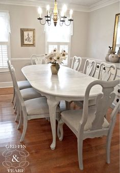 painted vintage dining table and chairs set from notonthehighstreet rh pinterest com