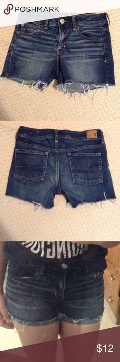 🎉FLASH SALE🎉 Very cute and comfy shorts. They are Super Stretch Shorties. Barely worn. No stains or marks. American Eagle Outfitters Shorts Jean Shorts