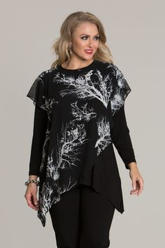6027 Georgette Layered Top