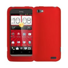 HTC One V Silicone Skin Case - Red