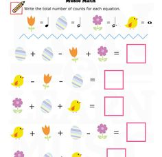 Music-Worksheets-Easter-Music-Math-003 Music Math, Music Classroom, Music Games, Music Notebook, Music Journal, Teaching Aids, Piano Teaching, Music Theory Worksheets, Sheet Music Art