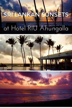 How stunning are the sunsets from the pool at Hotel RIU, Sri Lanka's amazing all-inclusive resort? See a full review of this luxury hotel on While I'm Young and Skinny travel blog.