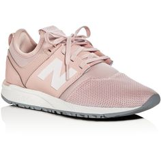 New Balance Women's 247 Lace Up Sneakers ($80) ❤ liked on Polyvore featuring shoes, sneakers, pink, lacing sneakers, lace up shoes, laced sneakers, new balance trainers and laced shoes