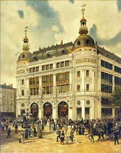 After a fire in 1882, Printemps Haussmann Paris has been rebuilt by Paul Sédille.