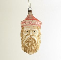 Vintage Glass Christmas Ornament Santa Claus by efinegifts on Etsy, $49.95