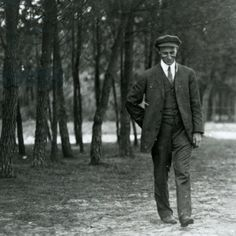 Wilbur Wright in France, 1909 (b/w photo)