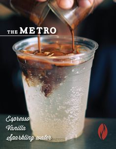 Introducing: The Metro An uplifting, subtly sweet, and bubbly alternative to the iced Americano. It will change your life forever. Or just your summer.