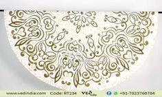 Handmade Round Indian Mandala Blanket Tapestry Hippie Bohemian Beach Throw Cotton Table Cloth by VedIndia.com