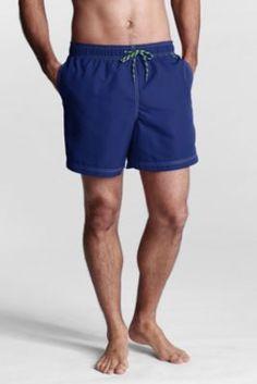 "Men's Regular 6"" Solid Volley Swim Shorts from Lands' End"
