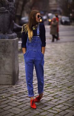 Overalls are always in style. Image Via: THE MATERIAL LIST #overalls