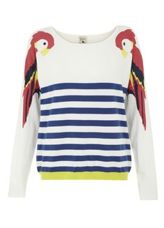 Stripe and Parrot Jumper