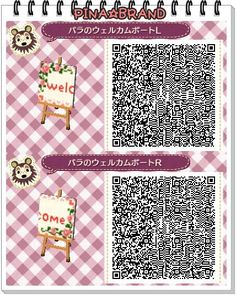 Welcome Tiles - Animal Crossing New Leaf QR Codes