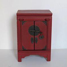 meuble chinois bahut petit buffet peint la main en c dre tr s belle finition ebay meuble. Black Bedroom Furniture Sets. Home Design Ideas