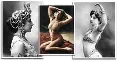 Orientalisme:  Mata Hari, courtisane, danseuse et espionne parée de bijoux orientalistes à la Belle Epoque