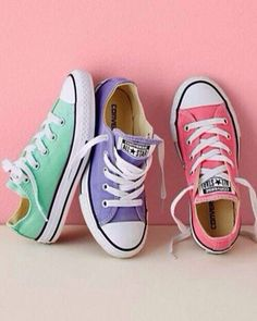 finest selection ad1b2 6a182 Converse Chucks, Sizes love these colors for spring summer, do pink laces  with purple and purple with the pink. Never to old for Converse!