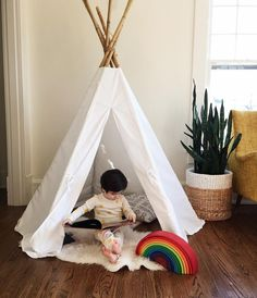 "@ministyleblog on Instagram: "":: CLOSED:: Who wants to win a brand new teepee by @aggieandfrancois like the one shown here?!  aren't they the cutest?!  / to win- simply like this photo, follow @aggieandfrancois and tag 3 or more friends below in separate comments! Winner will be announced in 48 hrs!!  *not sponsored by Instagram*"""