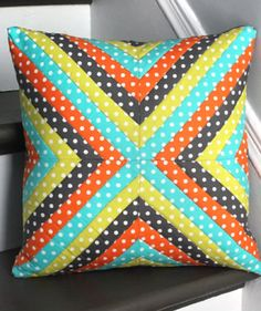Charming Quilted Throw Pillow…Easy!                                                                                                                                                                                 More