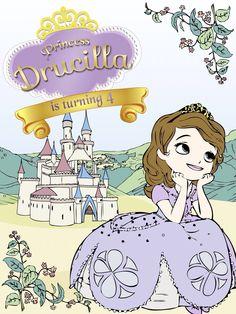 princess sofia, soft colours handdrawn
