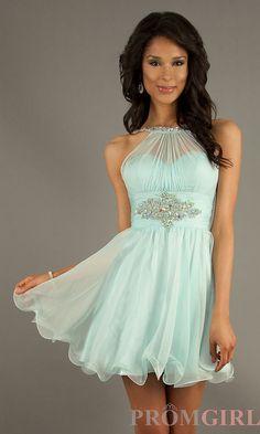 Short Sleeveless Homecoming Dress