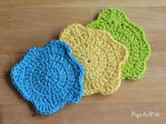 Crochet Colour Spill Coasters