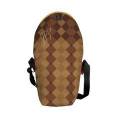 Monogram Brown Argyle   Mini Zero Messenger Bag