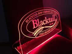 Laser engraved acrylic edge lit led sign