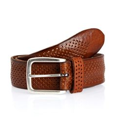 Tan Perforated Leather Belt, Anderson's. Shop more men's belts from the Anderson's collection online at Liberty.co.uk