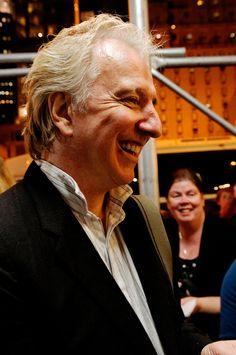 "November 10, 2011 - Alan Rickman at the stage door, signing autographs after a performance of ""Seminar."" -- Alan played Leonard in ""Seminar"" from November 20, 2011 to May 31, 2012."