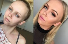 15 transformations makeup qui vont vous coller des frissons Pearl Earrings, Make Up, Fashion, Makeup, Before After, Trends, Eyes, Fashion Styles, Pearl Drop Earrings
