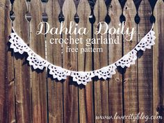 Love City: crochet love {dahlia doily scallop garland}Making this for my li'l sweetie's 5th birthday party: I'm thinking pink for a ballet party!