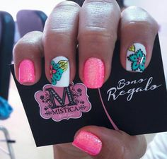 •M e  E n c a n t a• Gorgeous Nails, Love Nails, Pretty Nails, My Nails, Mandala Nails, Nails 2017, Bright Nails, Cute Nail Art, Finger Painting