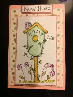 Home made hand drawn new home card