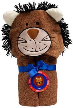Leo The Lion High Standard In Quality And Hygiene Zoocchini 100 Percent Cotton Kids Hooded Towel Towels & Washcloths Baby