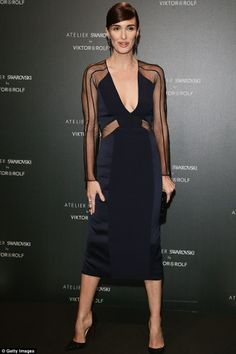 Turning heads: Paz rocking a beautiful Viktor and Rolf design.